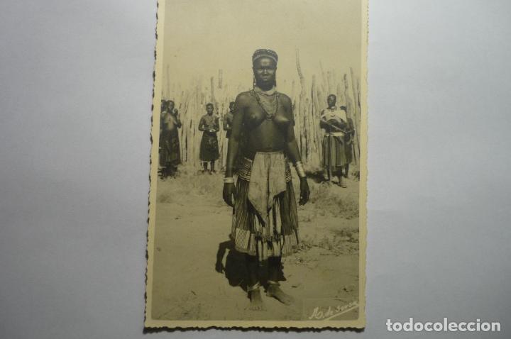 POSTAL CIRCULADA ETNICA SUR ANGOLA (Postales - Postales Extranjero - África)