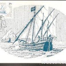 Postales: SUDÁFRICA & MAXI, DESCUBRIDORES DEL ÁFRICA, NAVEGANTES, DIOGO CÃO, HENTIES BAY 1986 (683). Lote 143890250