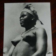 Postales: FOTO POSTAL DE GUINEA ESPAÑOLA, BAILARINA SEMI DESNUDA, Nº 157, FOTO CALIFORNIA, BATA, SIN CIRCULAR. Lote 144093838