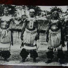 Postales: FOTO POSTAL DE GUINEA ESPAÑOLA, BAILARINAS SEMI DESNUDAS, Nº 154, FOTO CALIFORNIA, BATA, SIN CIRCULA. Lote 144093970