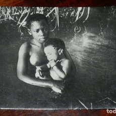 Postales: FOTO POSTAL DE GUINEA ESPAÑOLA,TIPOS INDIGENAS, Nº 148, FOTO CALIFORNIA, BATA, SIN CIRCULAR. Lote 144094286