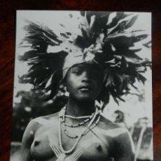Postales: FOTO POSTAL DE GUINEA ESPAÑOLA, BAILARINA SEMI DESNUDA, Nº 151, FOTO CALIFORNIA, BATA, SIN CIRCULAR. Lote 144094390