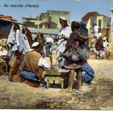 Postales: MARRUECOS-EL MERCADO.. Lote 146549354
