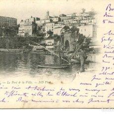 Postales: ARGELIA-BOUGIE- EL PUERTO Y LA CIUDAD- AÑO 1901 SIN DIVIDIR. Lote 146550418