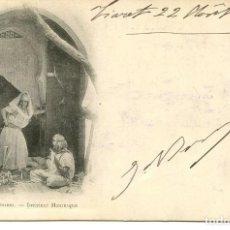 Postales: ARGELIA-INTERIOR MORO-MUJERES- AÑO 1901 SIN DIVIDIR. Lote 146551258