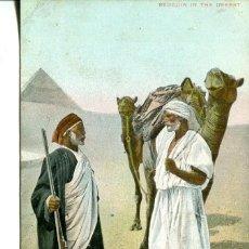 Postales: EGIPTO-BEDUINOS EN EL DESIERTO. Lote 146566118