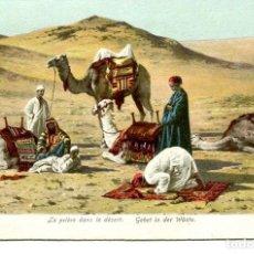 Postales: EGIPTO-LA PREGÀRIA EN EL DESIERTO-1907. Lote 146566522