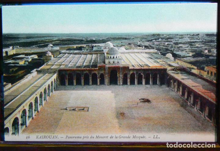 TUNEZ KAIROUAN - PANORAMA PRIS DU MINARET DE LA GRANDE MOSQUEE. (Postales - Postales Extranjero - África)