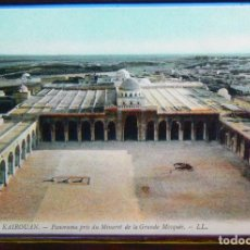 Postales: TUNEZ KAIROUAN - PANORAMA PRIS DU MINARET DE LA GRANDE MOSQUEE.. Lote 147277738
