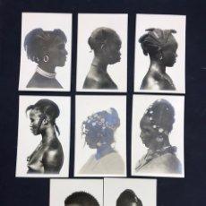 Postales: 8 POSTALES FOTOGRÁFICAS, ETNICAS AFRICANAS DE LERAT. SIN CIRCULAR, RARAS. VER FOTOS. Lote 149358402