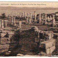 Postales: POSTAL TÚNEZ. CARTHAGE -BASILIQUE DE ST-CYPRIEN (FOUILLES DES PÈRES BLANCS). Nº 41. Lote 156886366
