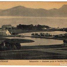 Postales: POSTAL TÚNEZ. CARTHAGE - SALAMMBO - ANCIENS PORTS ET INSTITUT OCÉANOGRAPHIQUE. Nº 11. Lote 156979006
