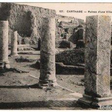 Postales: POSTAL TÚNEZ. CARTHAGE - RUINES D'UNE VILLA ROMAINE. Nº 157. Lote 156981106