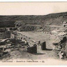 Postales: POSTAL TÚNEZ. CARTHAGE - ENSEMBLE DU THÉÂTRE ROMAIN. Nº 28. Lote 156981398