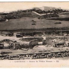 Postales: POSTAL TÚNEZ. CARTHAGE - RUINES DU THÉÂTRE ROMAIN. Nº 1. Lote 156981922