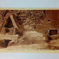Postales: POSTAL TUNEZ - 71 CARTHAGE - COLLINE DE BYTSA TOMBEAUX PUNIQUES - AÑOS 30 APROX. - SIN USAR. Lote 161403522