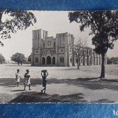 Postales: HAUTE-VOLTA (BURKINA FASSO). OUAGADOUGOU, CATHÉDRALE. FOTO REAL. DIFFUSION AFRICAINE DU LIVRE 2229. Lote 164957890