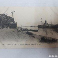 Postales: 15770 - SUEZ - THE SUEZ, CANAL AT KANTARAH (EGIPTO). Lote 165016770