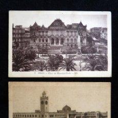 Postales: LOTE DE 2 TARJETAS POSTALES DE ORAN. CIRCA 1900. SIN CIRCULAR . Lote 165500274