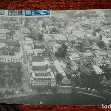 Postales: FOTO POSTAL DE GUINEA ECUATORIAL, SANTA ISABEL, FECHADA EN 1951, CIRCULADA POR SERVICIO AEREO A TARR. Lote 166514954