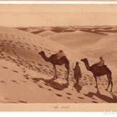 Postales: MARRUECOS. 172 AU DESERT. LEHNERT & LANDROCK EDITEURS. COLOR SEPIA.. Lote 167726380