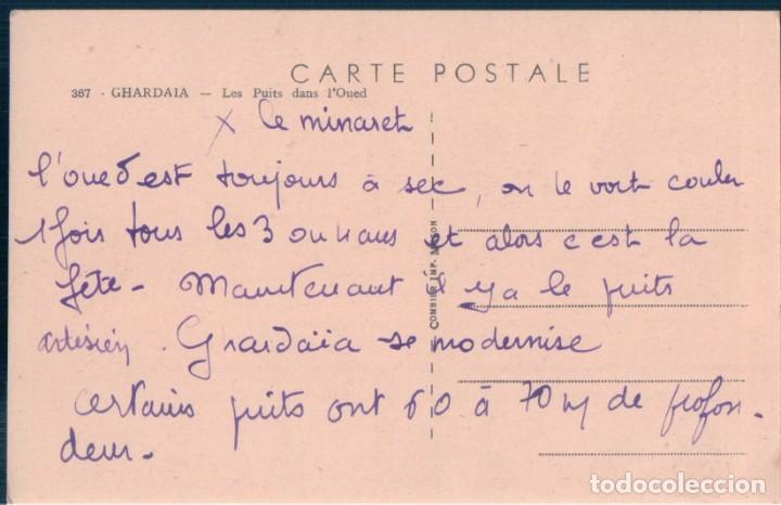 Postales: POSTAL ARGELIA - GHARDAIA - LES PUITS DANS L'OUED - COMBIER - Foto 2 - 167780920