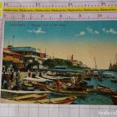 Postales: POSTAL DE EGIPTO. AÑOS 10 30. PORT SAID. GENERAL VIEW OF THE QUAY. PUERTO BARCOS 2297. Lote 167883208