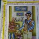 Postales: POSTAL DE TÚNEZ. TUNISIE TUNISIA. DIBUJO TARAK AMRI. LE POISSONNIER, EL PESCADERO. 2269. Lote 168494768