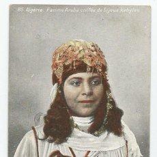 Postales: CARTE POSTALE DE ARGELIA EDITADA POR AQUA-PHOTO LVS.-AÑOS 20- SELLO DE BATALLON WAD.RAS-SIN CIRCULAR. Lote 168627936