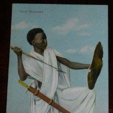 Postales: POSTAL DE JEUNE SOUDANAIS, N. 116, EPHTIMIOS FRERES, PORT SAID, EGYPTE, EGIPTO, NO CIRCULADA.. Lote 175759099