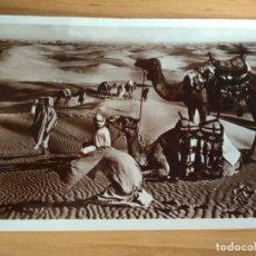 Postales: POSTAL ANTIGUA BLANCO Y NEGRO. BEDUINOS EN EL DESIERTO. LIBANO. CIRCULADA. Lote 175913602