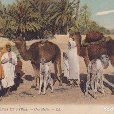 Postales: 6112 SCENES ET TYPES UNA HALTE LL ESCRITA MELILLA 1910. Lote 176402613