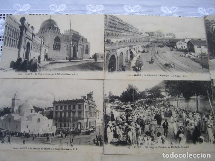 Postales: 77-Lote de 12 Postales de Argel (Alger) Principios de Siglo XX-(ver descripción) - Foto 3 - 177983954