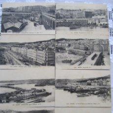 Postales: 78-LOTE DE 8 POSTALES DE ARGEL (ALGER)-PRINCIPIOS SIGLO XX-LA CASBAH-PUERTO-BOULEVARES Y RAMPAS. Lote 177984554