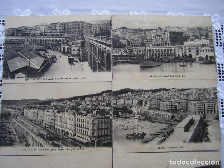 Postales: 78-Lote de 8 postales de Argel (Alger)-Principios siglo XX-La Casbah-Puerto-Boulevares y Rampas - Foto 2 - 177984554