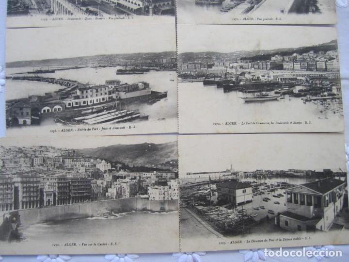 Postales: 78-Lote de 8 postales de Argel (Alger)-Principios siglo XX-La Casbah-Puerto-Boulevares y Rampas - Foto 3 - 177984554