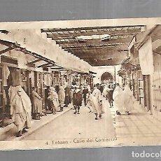 Postales: TARJETA POSTAL DE TETUAN, MARRUECOS - CALLE DEL COMERCIO. 4. L.ROISIN. Lote 179237631