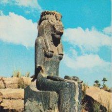 Postales: EGIPTO, TEBAS, ESTATUA DE SEKHMET EN EL TEMPLO DE MUT - EDITA CYZ 24005_7 - S/C. Lote 180174378