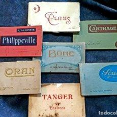 Postales: 7 TACOS DE POSTALES ANTIGUAS NORTE DE ÁFRICA ALGERIE TÁNGER TÚNEZ CARTAGO CARTHAGE SOUSSE BONE ORAN . Lote 180202186