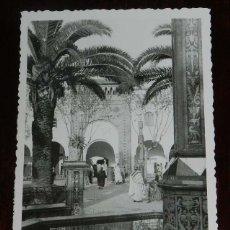 Postales: FOTO POSTAL DE LARACHE, FUENTE PLAZA DE ESPAÑA, REFLEJOS, CIRCULADA.. Lote 180912917