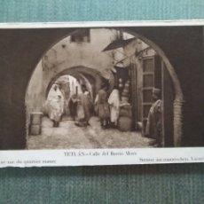Postales: POSTAL TETUAN - CALLE DEL BARRIO MORO. Lote 182159016