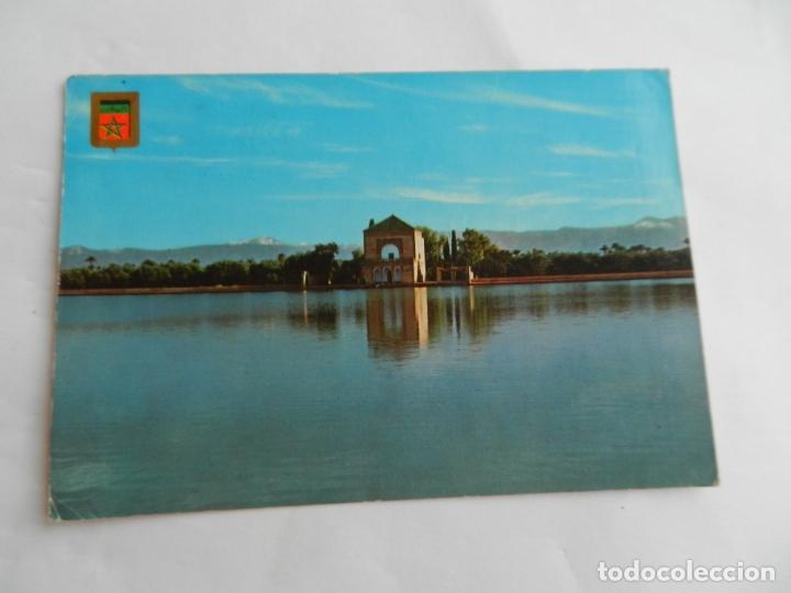 POSTAL Nº 3 MARRAKECH - MARRUECOS - MENARA - 1976 - CIRCULADA. (Postales - Postales Extranjero - África)