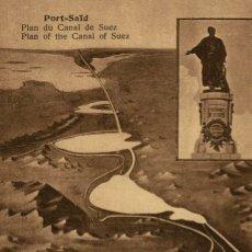 Postales: PORT SAID PLAN DU CANAL DE SUEZ EGYPT EGYPTE. Lote 182906561