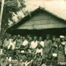 Postales: GUINEA CONTINENTAL. UN POBLADO PROXIMO A LOS RAPIDOS DE YOBE. Lote 182920078