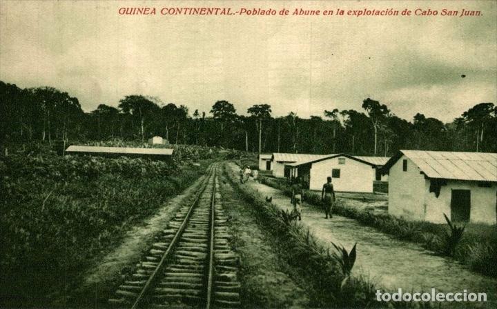 GUINEA CONTINENTAL. POBLADO DE ABUNE EN LA EXPLOTACION DE CABO DE SAN JUAN (Postales - Postales Extranjero - África)