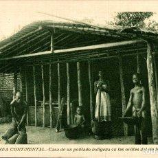 Postales: GUINEA CONTINENTAL. CASA DE UN POBLADO INDIGENA EN LAS ORILLA DEL RIO N'DOTE. Lote 182920330