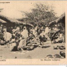 Postales: HAUTE GUINEE - COLONIES FRANCAISES - UN MARCHE INDIGENE. Lote 182920551