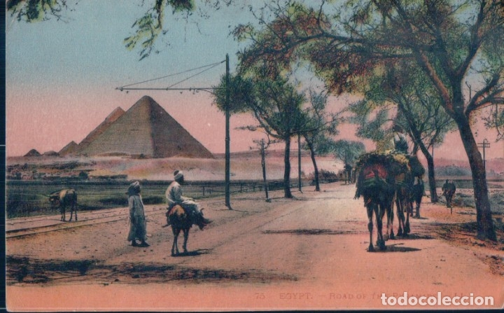 POSTAL EGYPTO - ROAD OF THE PYRAMIDS - LL - ROUTE DES PYRAMIDES (Postales - Postales Extranjero - África)