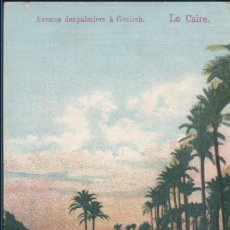 Postales: POSTAL EL CAIRO - LE CAIRE - AVENUE DESPALMIERS A GEZIREH - EGYPTO. Lote 182990526