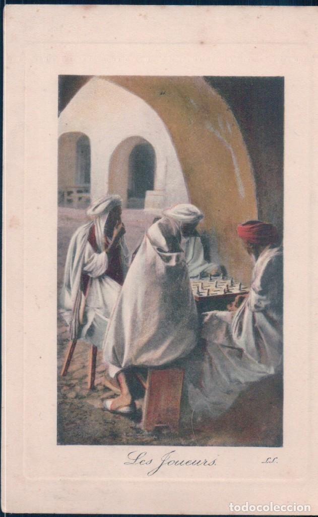 POSTAL SCENES ET TYPES - LES JOUEURS - LL - ARGELIA (Postales - Postales Extranjero - África)